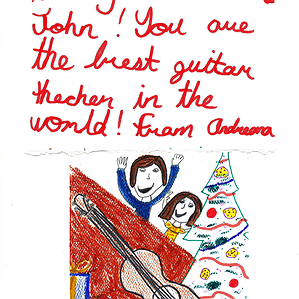 A Christmas Card from Andreana to John