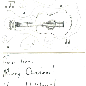 A Christmas Card from Andreana to John 3