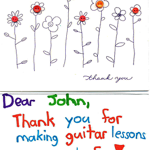 A Thank You Card from Isabella to John 2