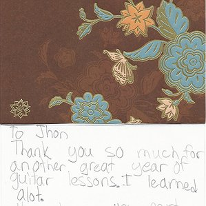 A Thank You Card to John from Graydon