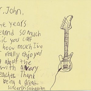 A Thank You Card to John from Sebastian