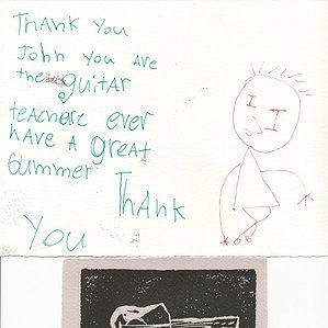 A Thank You Card to John from Simon