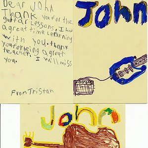 A Thank You Card to John from Tristan
